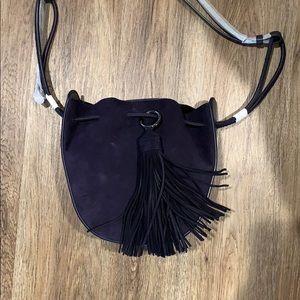 Rebecca Minkoff Saddle Bag Navy Suede